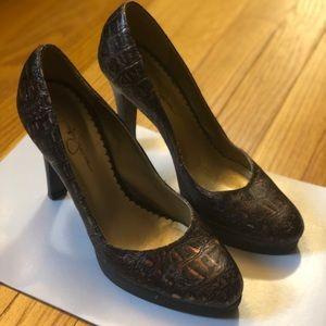 Jessica Simpson Copper Brown heels